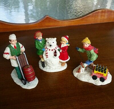 Set of 3 Coca Cola Town Square Collection Figurines