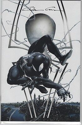 Amazing Spiderman 1 Original Clayton Crain Black Suit Signed Virgin Variant D Nm