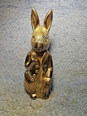 "Vintage Silver Plate Rabbit Shaped Bank, GODINGER, F. WARNE & CO., 6 1/2"" tall."