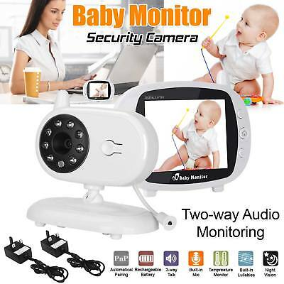 "3.5"" Wireless HD Video Baby Monitor 2.4 GHz Night Vision Security Camera Viewer"