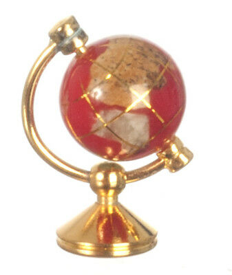 Red & Copper Small World Globe, Dolls House Miniatures, Ornament