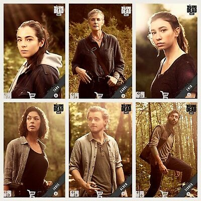 6x Topps WALKING DEAD DIGITAL Card Trader PORTRAITS SEASON 9 [6 CARD SET]
