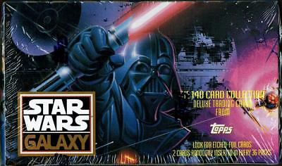 Topps Star Wars Galaxy Series 1 Trading Cards Box 36 Packs (New & Sealed)