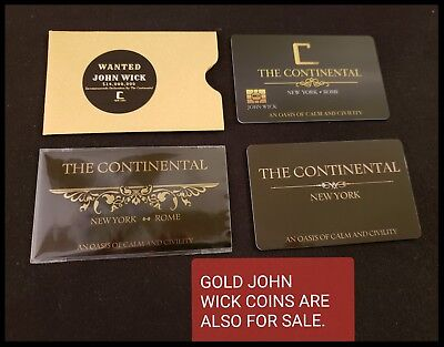 John Wick Cosplay Movie Prop Continental Hotel Comiccon Baba Yaga Reeves No Coin