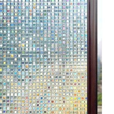 3D Window Privacy Film Static Decorative Non-Adhesive Heat Control AntiUV Durabl