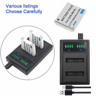 NB-6L Rechargeable Battery for Canon PowerShot ELPH S90 / S95 /DUAL USB Charger