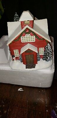NEW Thomas Kinkade Hawthorne Village-- Christmas Village School--Lighted