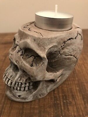Skull Tea Light Candle Holder Halloween Home Decor Paint Your Own Craft Supplies