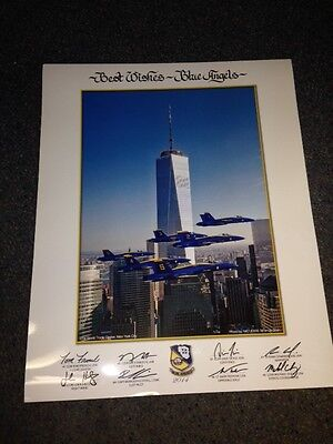 """2014 US NAVY BLUE ANGELS """"One World Trade"""" 16x20 large LITHO Auth poster NEW"""