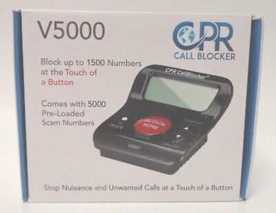 Call Blocker Stop All Nuisance Telephone Numbers Landline Robo Calls CPR V5000