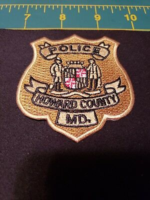 Howard County Maryland Police Patch Md Excellent Condition Sheriff Swat K9