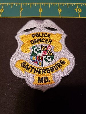 Maryland Police Patch City Of Gaithersburg Md Officer Swat K9 Patches New Mint
