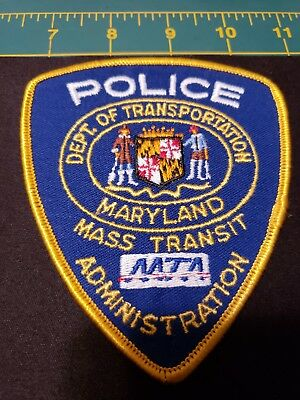 Maryland Police Patch Mta Mass Transit Department Transportation Admin Mint Md