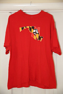 Natty Boh Maryland State Outline Flag 2XL T-shirt