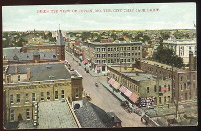 Early Picture Post Card, Bird's Eye View Of Joplin, Mo. The City That Jack Built
