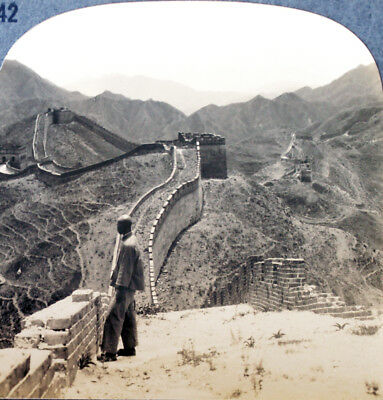 Keystone Stereoview of THE GREAT WALL OF CHINA from 1930's T600 Set Version A