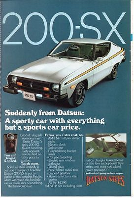 DATSUN 200-SX 1970's NATIONAL GEOGRAPHIC AD