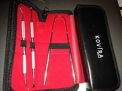 Dental hygiene kit. (Stainless Steel)Brand New with Carrying Case TOP QUALITY