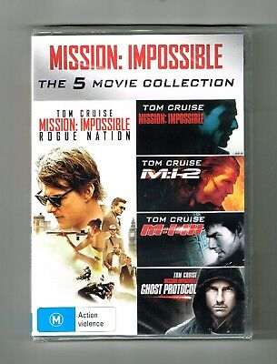 Mission Impossible -The 5-Movie Collection Dvd 5-Disc Set Brand New & Sealed