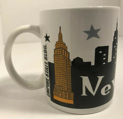 New York City SKYLINE Apple Statue Liberty Coffee Tea Cup Mug Jay Joshua NY