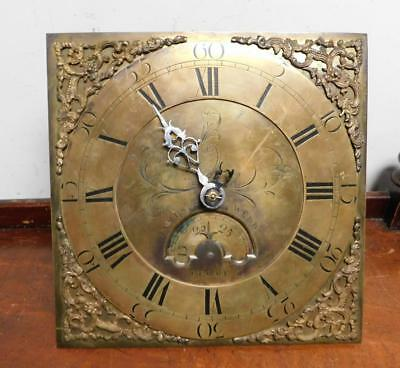 11 inch square 30 hour brass dial longcase movement james webb frome
