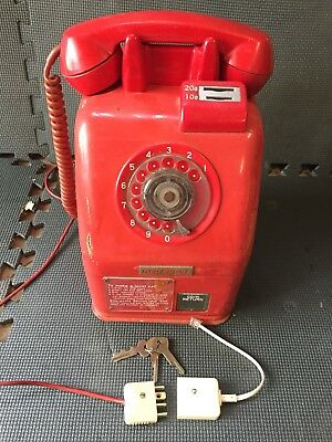 Red Coin Operated Payphone Phone