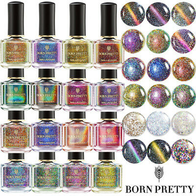 80Colors 6ml Holographic Glitter Nail Polish Laser  Varnish BORN PRETTY