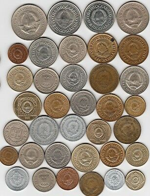 36 different world coins from YUGOSLAVIA