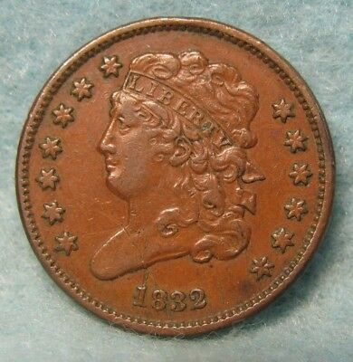 1832 CLASSIC HEAD HALF CENT XF- Details  * US Coin