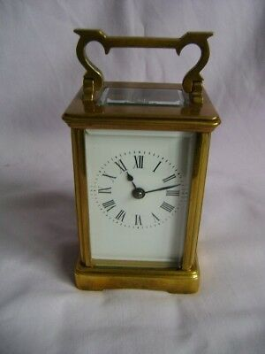 ANTIQUE FRENCH STRIKING CARRIAGE CLOCK c1880 IN GOOD WORKING ORDER + KEY