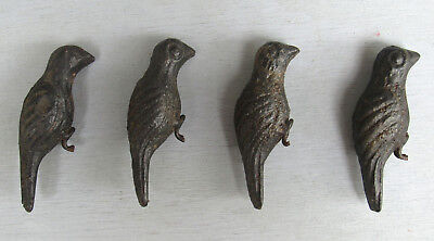 Set Of 4 Vintage Figural Cast Iron Shooting Gallery Birds