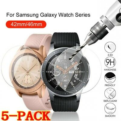 5x Tempered Glass Screen Protector for Samsung Galaxy Watch 46mm 42mm Clear Film