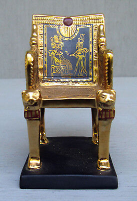 Fine Porcelain Franklin Mint King Tut Golden Throne Figurine 1989