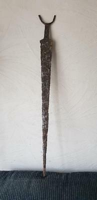 Authentic celtic iron age  Sword with horned pommel   750-12 BC 82cm