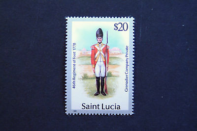 St Lucia $20 From The 1985 Military Uniforms Set Mnh