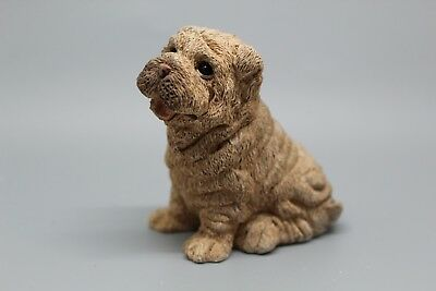 Stone Critters Dog Shar Pei Baby Scb-052 Figurine Made In The Usa New With Label