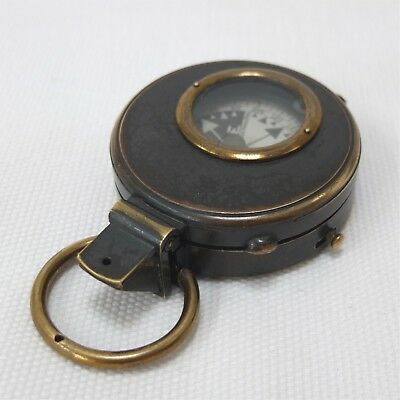 ANTIQUE PRISMATIC NIGHT MARCHING COMPASS & CASE T. ARMSTRONG MANCHESTER c.1880
