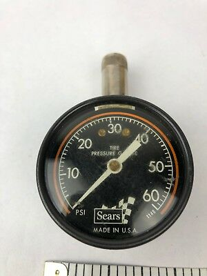 Vintage Sears Tire Pressure Gauge - Made in the USA