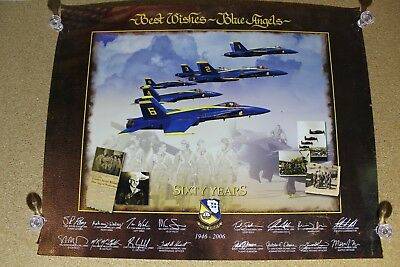 Blue Angels Sixty Years Anniversary 46-06 Commemorative Poster Photos/signatures