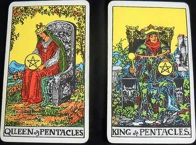 Rider Waite Colman Tarot Single Replacement Card Vintage 1971 No © Line