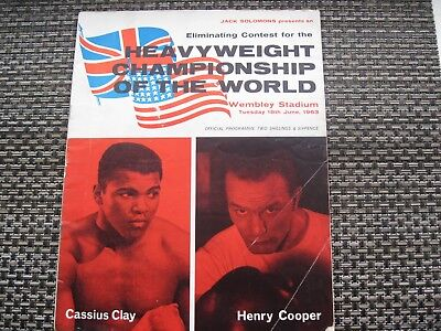 RARE 1963 HENRY COOPER v CASSIUS CLAY (ALI) ON SITE HEAVYWEIGHT BOXING PROGRAMME