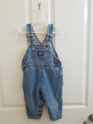 Vintage Toddler Boy OSHKOSH B'GOSH Denim Vestbak Overalls Size 2T