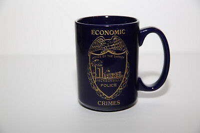 Office of the Sheriff Jacksonville Police Economic Crimes Etched Coffee Mug