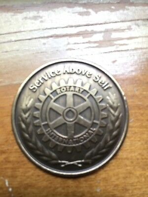 Rotary International Club Coin — Service Above Self