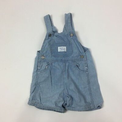 OshKosh B Gosh Vestbak Vintage 90s Baby Overalls Denim 24 M Light Wash OO30
