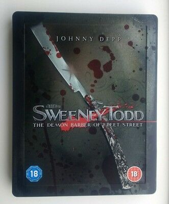 Sweeney Todd - Zavvi Exclusive Steelbook Blu-ray DELETED OOP RARE Steel Book