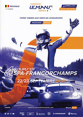 Programm 4 Hours of Spa-Francorchamps 2018 European Le Mans Series
