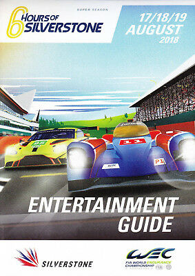 Programm Entertainment Guide 6h Silverstone 2018 WEC World Endurance (Le Mans)