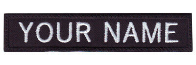 """Military Rectangular 3"""" to 6"""" x 1"""" IN Custom Embroidered Name / Text Tag Patch"""