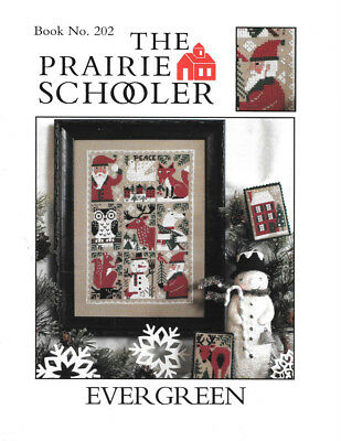 "2015 Book No. 202-""evergreen""-Christmas-""peace""-Ps-Htf-Oop-Cross Stitch Pattern"